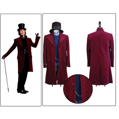 Charlie And Chocolate Factory Costume (Cosplay Charlie and the Chocolate Factory Willy Wonka Johnny Depp Costume)