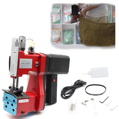 110v Industrial Portable Electric Bag Stitching Sack Closer Seal Sewing Machine
