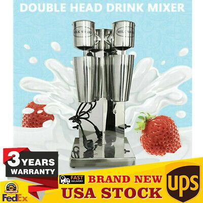 Commercial Double Head Milk Shake Machine 180w180w Milk Shaker Drink Mixer 110v