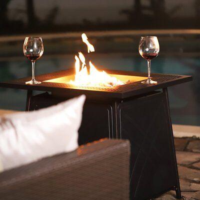 Outdoor Patio Fire Pit Table Deck Heater Propane Fire Burnning LG Gas 50,000BTU