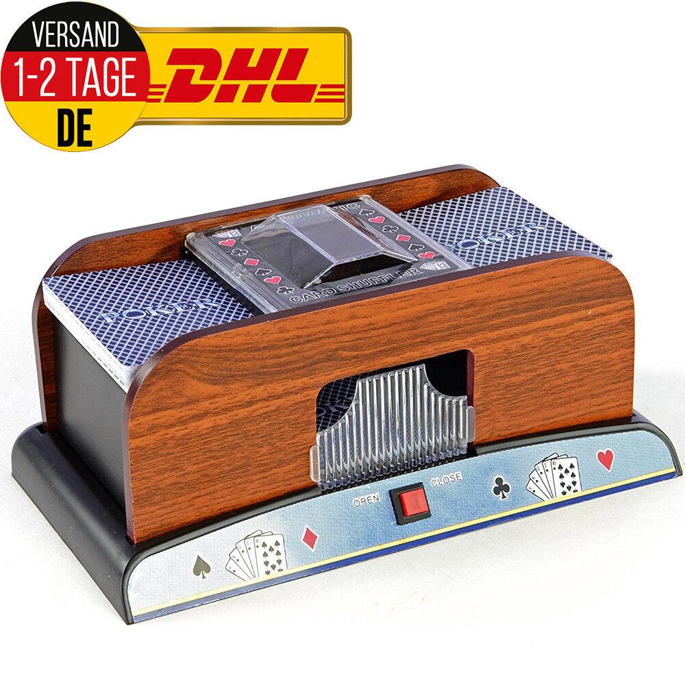 Profi Kartenmischer 2 Decks Poker elektrische Kartenmischmaschine Mischmaschine