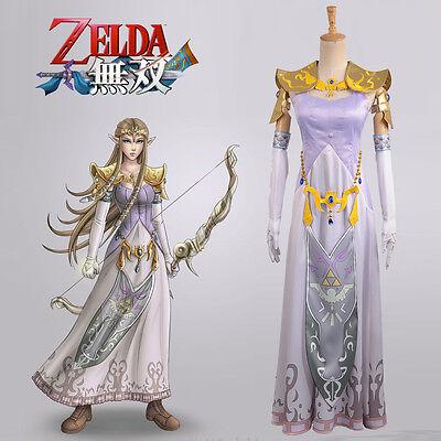 The Legend of Zelda Hyrule Warriors Princess Zelda Cosplay Costume Custom Adult