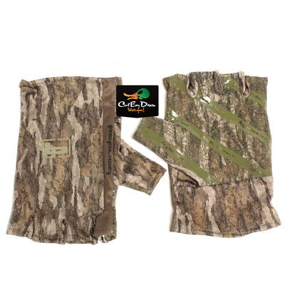 NEW BANDED FINGERLESS TURKEY GLOVES BOTTOMLAND CAMO MEDIUM / LARGE