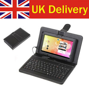 Mini USB Keyboard Protective Leather Case Stand for 7 inch 7