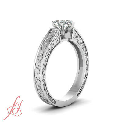 .80 Ct Pear Shaped Natural Solitaire Diamond Engagement Ring 14K GIA Certified 2
