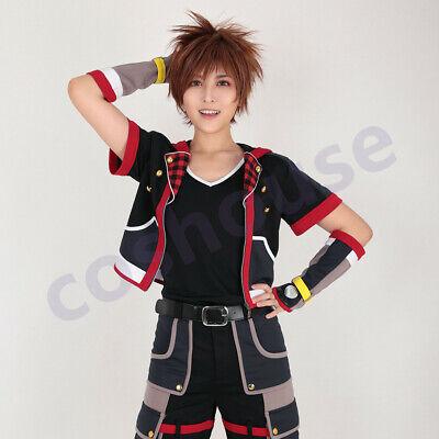 Kingdom Hearts III KH3 Sora Cosplay Costume Black 5 Pcs Fullset Outfit - Kingdom Hearts Outfits