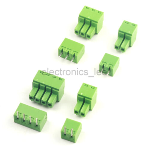 10sets 2EDG 2 3 4Pin Plug-in Screw Terminal Block Connector 3.81mm pitch