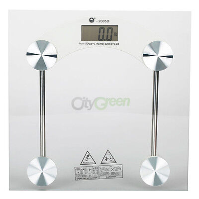 Digital LCD Glass Bathroom Body Weight Watchers Scale 330lb/150kg on Rummage