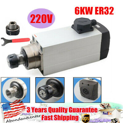 6kw Er32 Air Cooled Electric Spindle Motor For Cnc Router Mill Machine Engraving