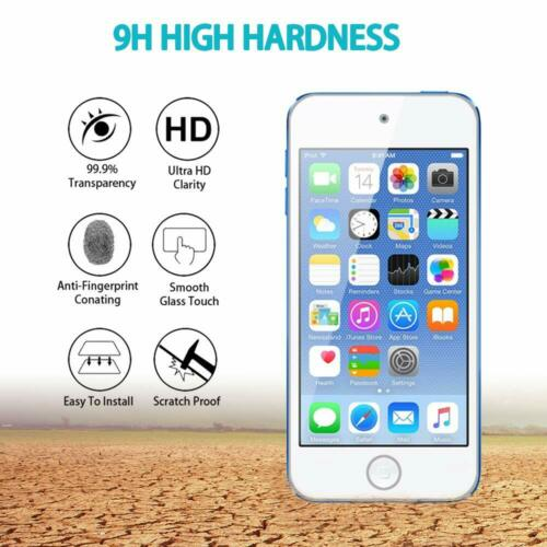 For Apple New iPod Touch 7th Gen Tempered Glass Screen Protector Protective 9H
