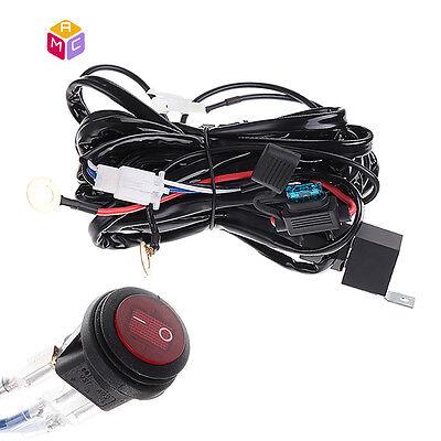 Universal LED Light Bar Fog Light Wiring Harness Kit 40A 12V Switch Relay Fuse