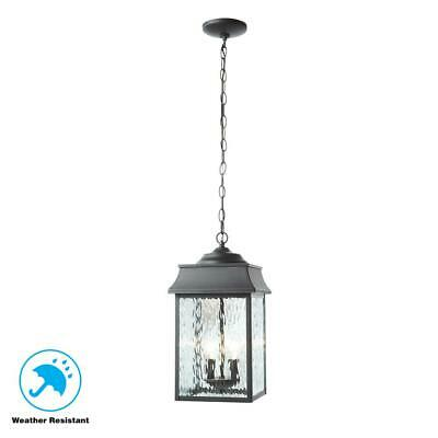 Home Decorators Collection Scroll Black 2-Light Large Hanging Lantern