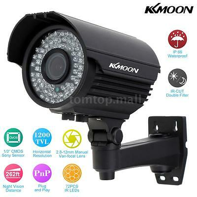 KKmoon Home Security 1200TVL 72IR LED Night vision CCTV Zoom Camera Waterproof
