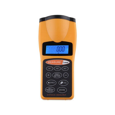 18m Laser Handheld Ultrasonic Tape Measure Distance Meter Pointer Range Finder