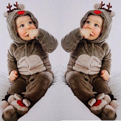 Baby Babykleidung Mädchen Jungen Reh Strampler Winter Warme Outwearlinie Outfits ()