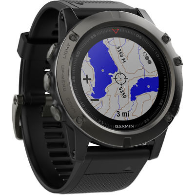 Garmin fenix 5X Sapphire Edition Sport Watch Slate Gray (010-01733-10) QQ