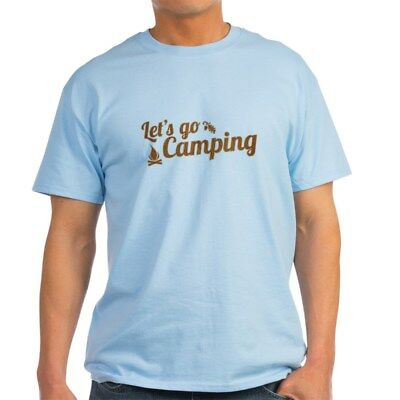 CafePress Let's Go Camping T Shirt 100% Cotton T-Shirt