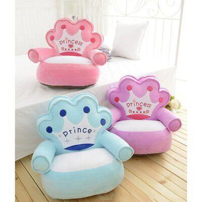 Baby Bag Bean Cover Seat Plush Cozy Soft Beanbag Chairs Children Prince Princess