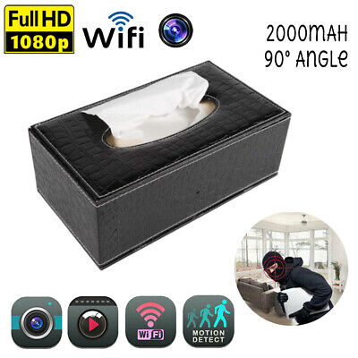1080P WIFI Tissue Box Cover/Dispenser Hidden Surveillance Security Nanny Camera Security Surveillance Box Camera