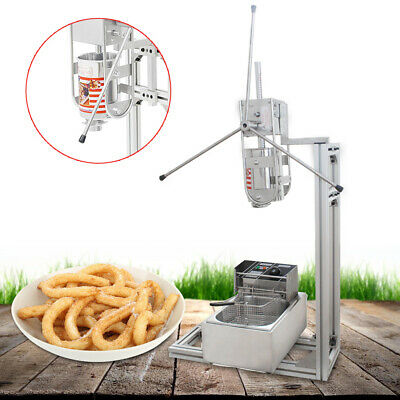 3l Commercial Stainless Steel Manual Spanish Churro Maker Machine 6l Fryer Us