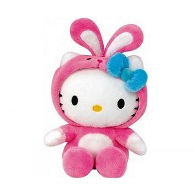 ♥ Hello Kitty Babyplüsch mit Häschenkostüm 15 cm Plüsch Hase Kuscheltier ♥ NEU