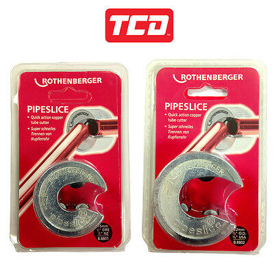 ROTHENBERGER TWIN PACK PIPESLICE 15MM & 22MM 8.8801 & 8.8802  ( 88801 88802 )