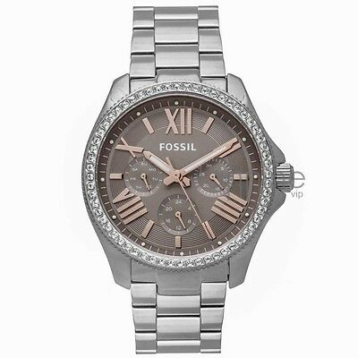 Fossil Authentic Watch AM4628 Silver 40mm Cecile Stainless Steel Multifunction