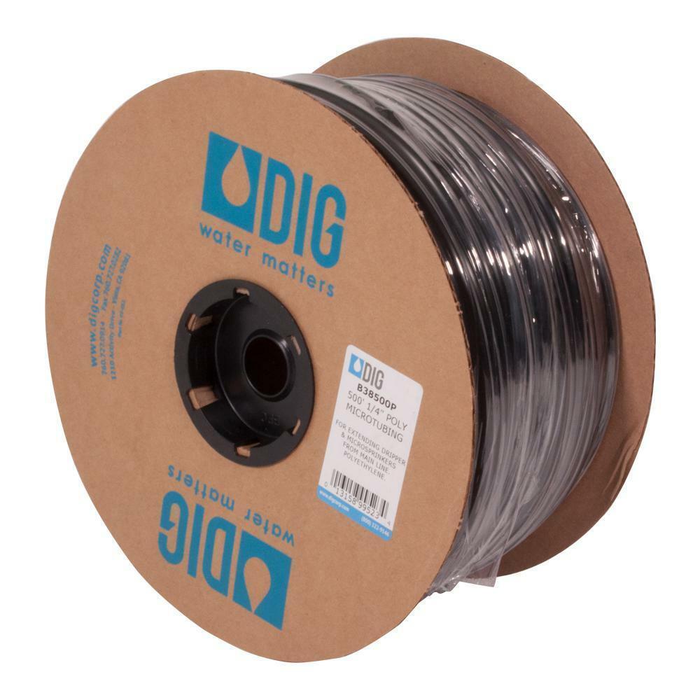 DIG Black Poly Micro Drip Tubing 60 PSI Garden Water ...
