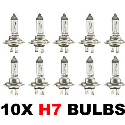 Car Parts - 10 x Brand New H7 499 HEADLAMP HEADLIGHT CAR BULBS 12v 55w (2 PIN) 477