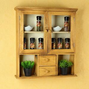 display cabinet display case vitrine rack wall cabinet drawer rack shabby chic ebay. Black Bedroom Furniture Sets. Home Design Ideas