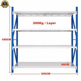2Mx1.8M Steel Warehouse Rack Storage Garage Shelving Shelf Shelv