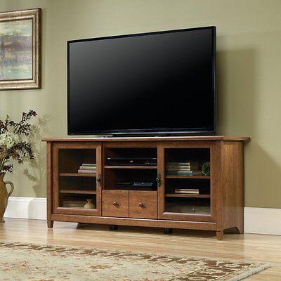 بوفيه جديد Sauder Edge Water TV Stand in Auburn Cherry, 418978 New