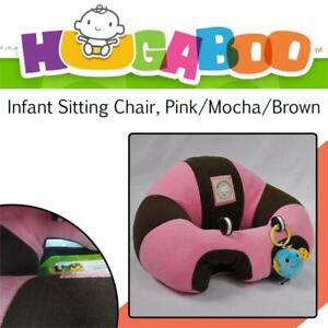 NEW Hugaboo Infant Sitting Chair, Pink/Mocha/Brown, 3-14-Month Condtion: New, Pink/mocha/brown