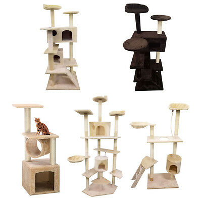 "36"" 52"" 60"" 80"" Cat Tree Tower Condo Furniture Scratch Post Kitty Pet House Play"