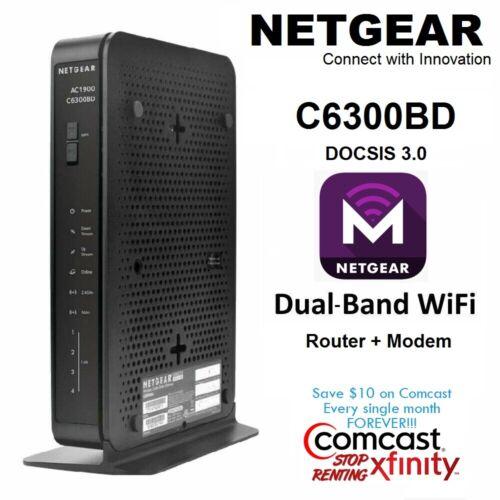 Netgear Cable Modem WiFi Router Xfinity Comast Cox Time Warner Internet Wireless