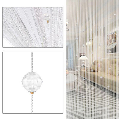 Beaded Door Curtains (Crystal Beaded String Divider Panel Tassel Room Screen Door Curtain)