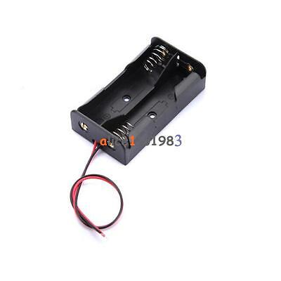 5pcs Plastic Battery Storage Case Box Holder For2 X Aa 2xaa 3v With Wire Leads