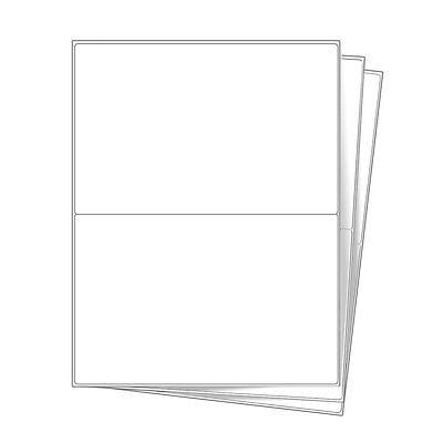 Round Corner 1000 Shipping Labels 8.5x5.5 Half Sheet Self Adhesive For Usps Ebay