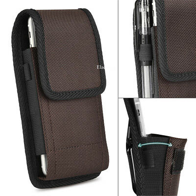 - Brown Vertical Carrying Case Cover Pouch Bag Belt Clip Holster for CellPhones US
