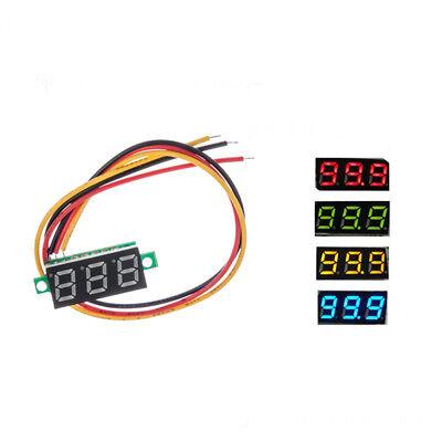 Dc0-100v 3 Wires Mini Led Display 3-digital Panel Meter Voltage Voltmeter