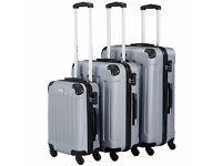 VonHaus 3 Piece Luggage Set - Silver
