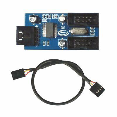 USB2 Hub intern 1x 5-pin auf 2x 9-Pin Header für Erweiterung um 4 Ports