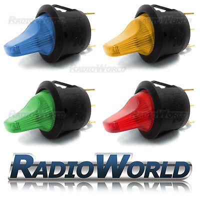 4x Mixed LED Illuminated Rocker Toggle Switch Car dash light ON/OFF 12v