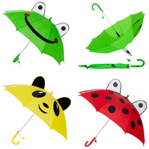 Windproof Cute Animal Automatic Umbrella 3D Ear With Whistle