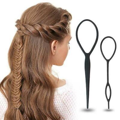 4 Pcs/Set Topsy Tail Hair Braid Ponytail Maker Styling Tool