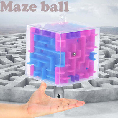 3D Cube Puzzle Maze Toy Hand Game Case Box Fun Brain Game Challenge Fidget Toys