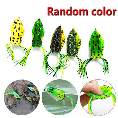 6pcs Soft Topwater 2.25 Inch Frog Bass Fishing Lure Bait Tackle Big Fish NEW