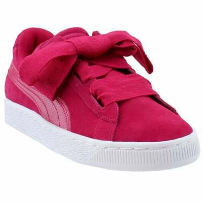Puma Suede Heart Snake Junior Sneakers Casual    - Pink - Girls