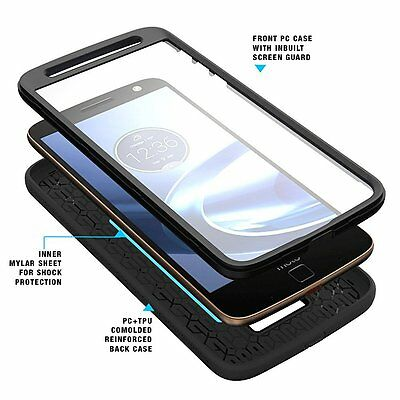 For Moto Z / Moto Z Droid Poetic Revolution Heavy Duty Protection Hybrid Case BK
