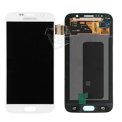 Sbi Whtie Samsung Galaxy S6 Sm G920 Lcd Touch Digitizer Full Screen Repair Combo